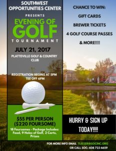 2017 Golf Outing poster